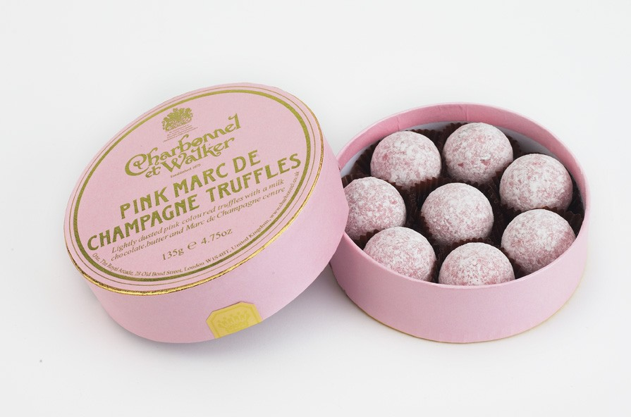 chocolate truffles with a milk chocolate, butter and Marc de Champagne ...