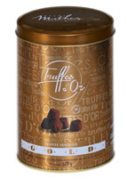 Mathez French Cocoa Dusted Truffles Gift Tin 500g