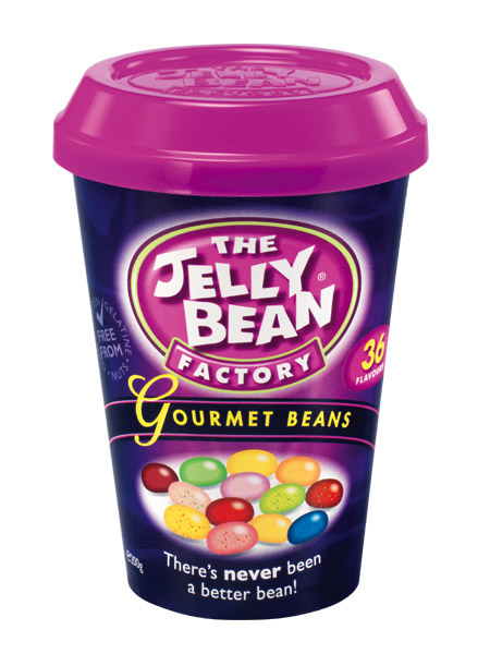 The Jelly Bean Factory Gourmet Jelly Beans 200g Tub Cup