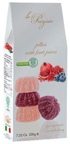 Le Preziose Italian Pomegranate And Blueberry Fruit Jellies 200g