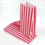Pink Candy Stripe Thick Paper Bags