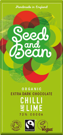 Seed & Bean Organic Chilli & Lime Extra Dark Chocolate 85g